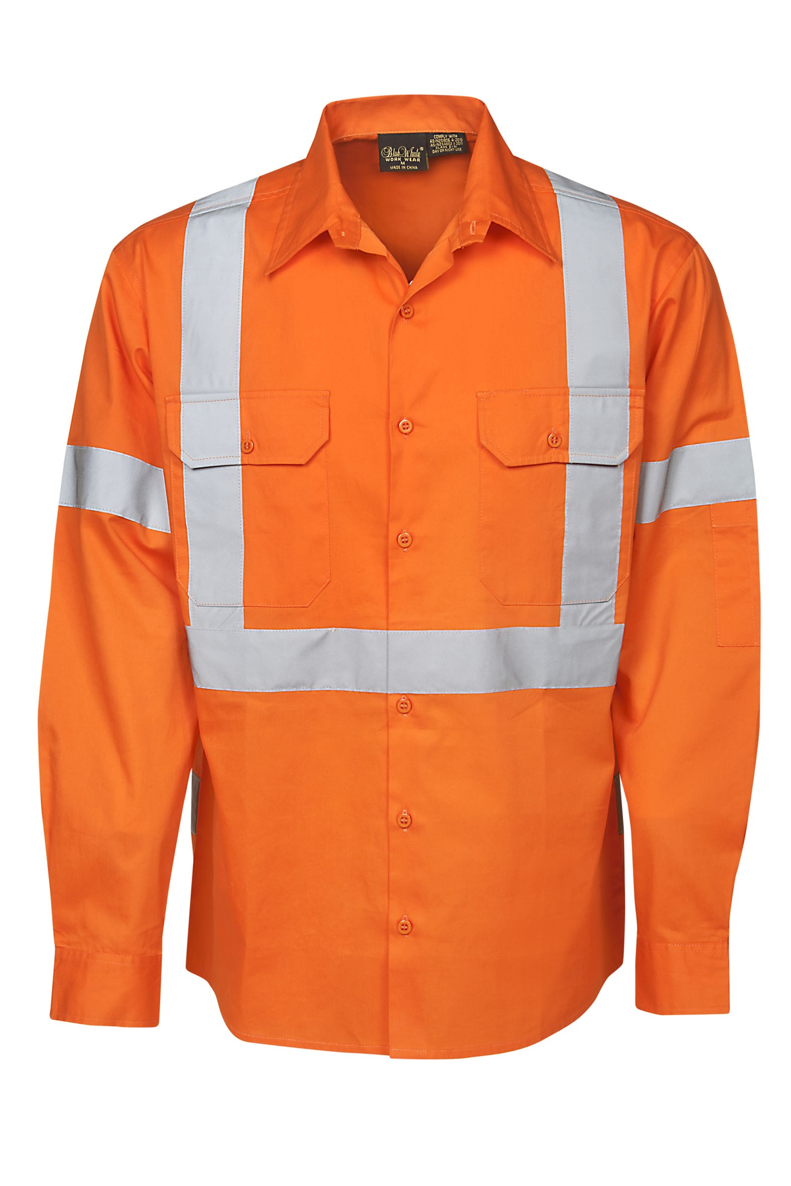 155 gsm hi vis twill shirts long sleeve day night for Wholesale high visibility shirts