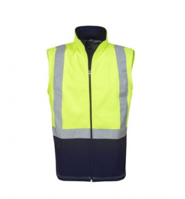 Hi Vis Soft Shell Vest, Day / Night Use