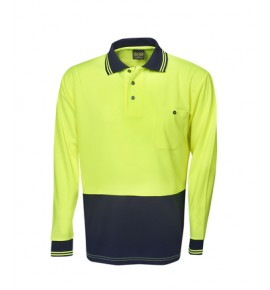 Hi Vis Light Weight Cooldry Polo - Long Sleeve