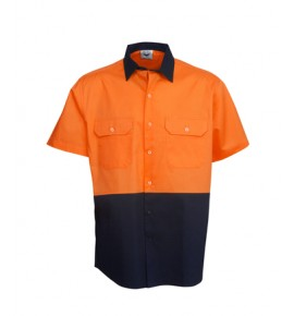 Hi Vis Drill Shirts - Short Sleeve - Day Use