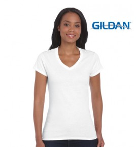 Gildan Soft Style Ladies V Neck Tee