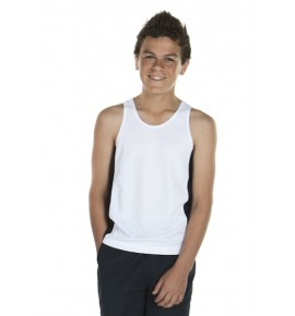 JB's Wear Podium Kids Contrast Singlet