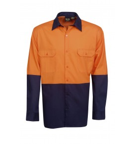 Hi Vis Twill Shirts - Long Sleeve - Day Use