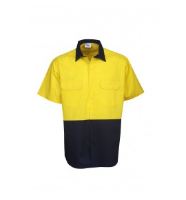 Hi Vis Twill Shirts - Short Sleeve - Day Use