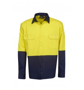 Hi Vis Drill Shirts - Long Sleeve - Day Use