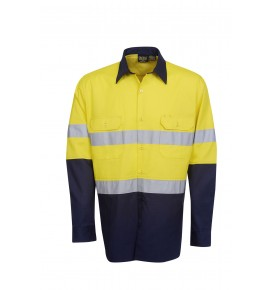 Hi Vis Twill Shirts - Long Sleeve - Day / Night Use