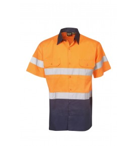 Hi Vis Twill Shirts - Short Sleeve - Day / Night Use