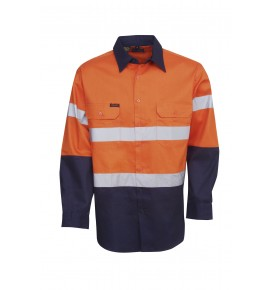Hi Vis Drill Shirts - Long Sleeve - Day / Night Use