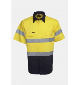 Hi Vis Drill Shirts - Short Sleeve - Day / Night Use