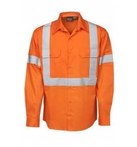 155 GSM Hi Vis Twill Shirts - Long Sleeve - Day / Night Use