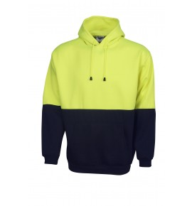 Hi Vis Fleecy Hoodie With Kangaroo Pocket