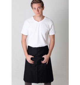 Cotton Half Bib Short Apron with Pocket