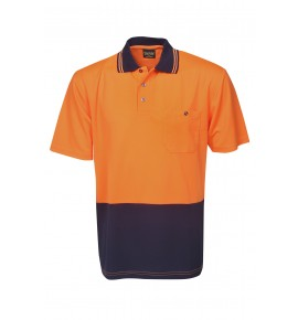 Hi Vis Light Weight Cooldry Polo - Short Sleeve