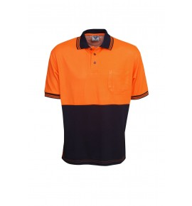 True Dry Cotton Back Hi Vis Polo - Short Sleeve