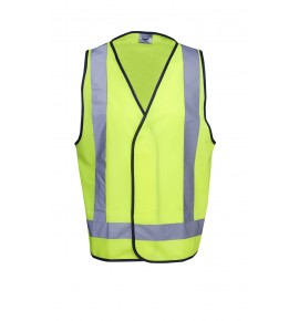 Hi Vis Safety Vest ( Day / Night Use - X Pattern )